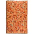 Hand-knotted Bohle Rust New Zealand Wool Rug (6' x 9')
