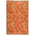 Hand-knotted Bokhara Rust New Zealand Wool Rug (8' x 10')