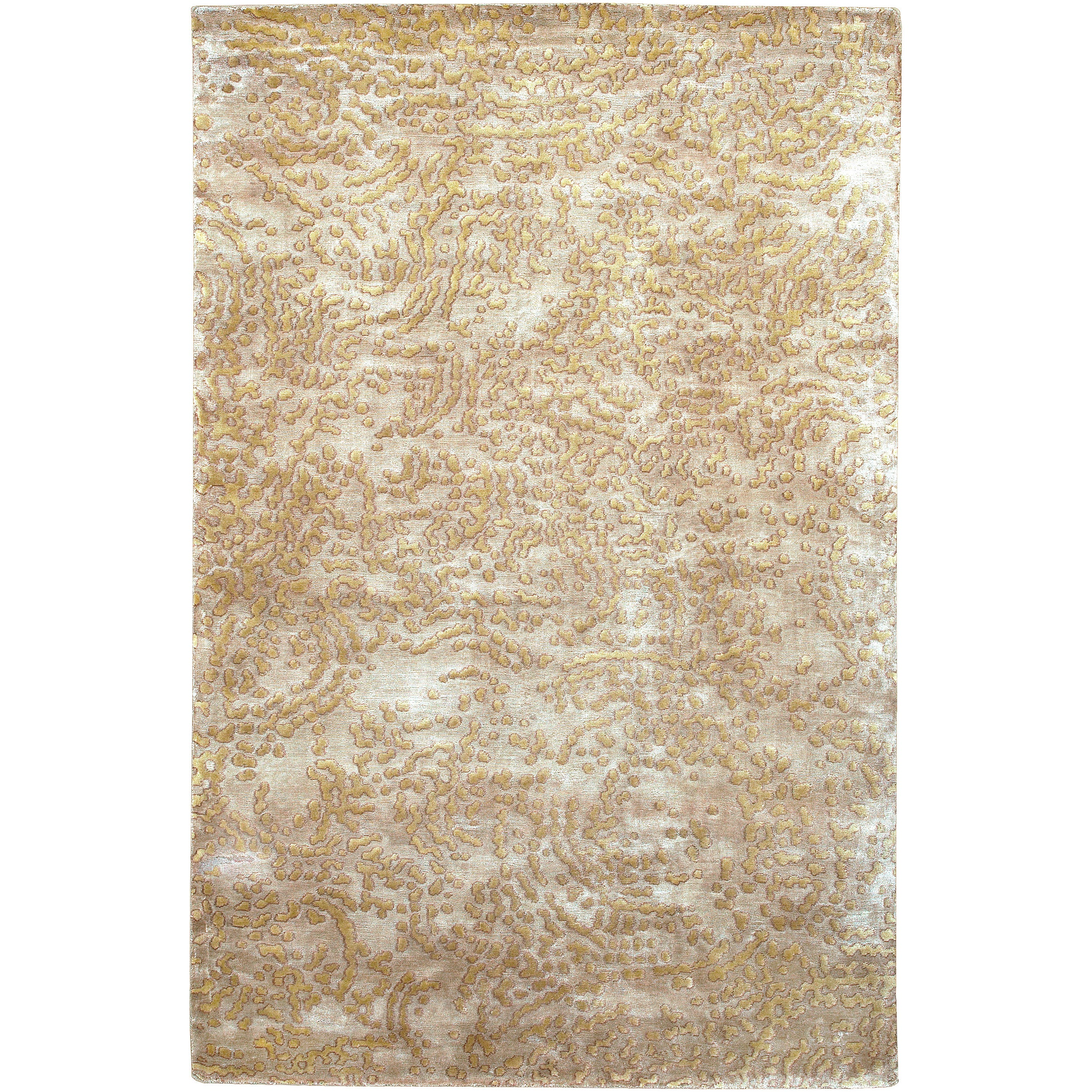 Julie Cohn Hand-knotted Conchoo Tan Abstract Design Wool Rug (4' x 6')