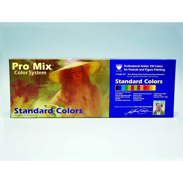 Weber John Sanden Pro Mix Standard Color Oil Color Set - 13 Color