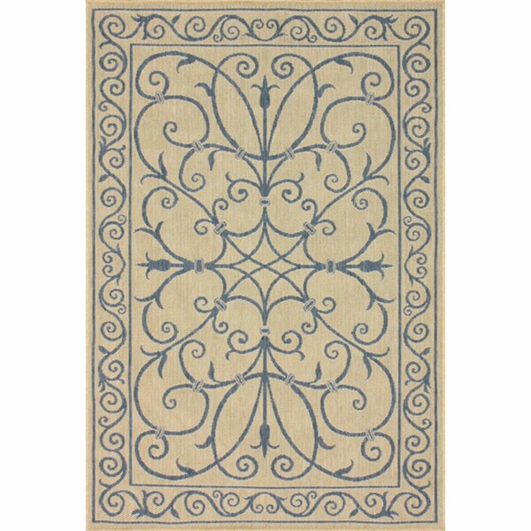 nuLOOM Outdoor/ Indoor Blue Rug (9' x 12')