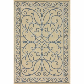 nuLOOM Outdoor/ Indoor Blue Rug (5'3 x 7'9)
