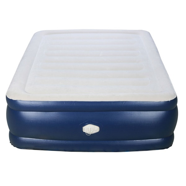 Air Bed Twin Size Raised Inflatable Mattress Airbed Built