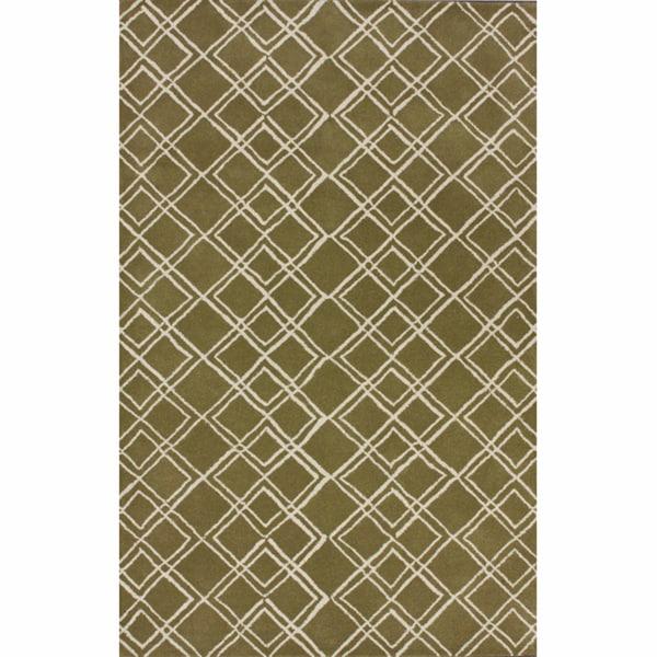 nuLOOM Handmade Moroccan Trellis Wool Rug (7'6 x 9'6)
