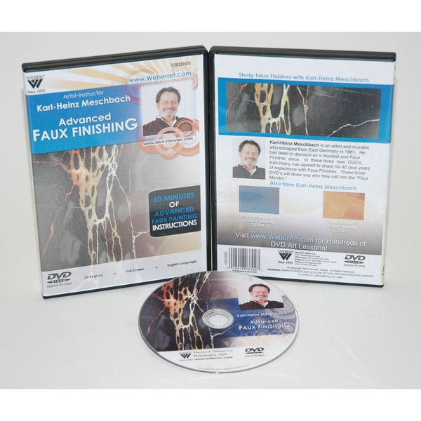 Weber Meschbach Studies of Faux Finishing Oil Painting 1-hour DVD