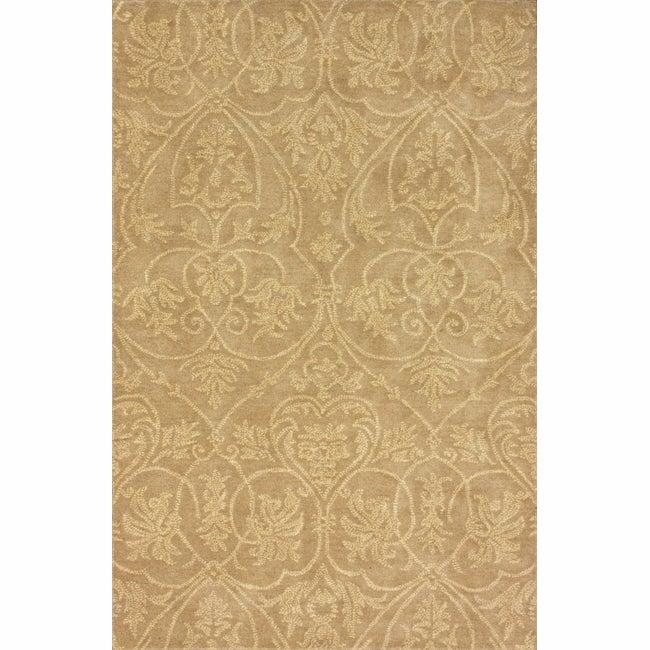 nuLOOM Handmade Parisian Royal Beige Wool Rug (5' x 8')