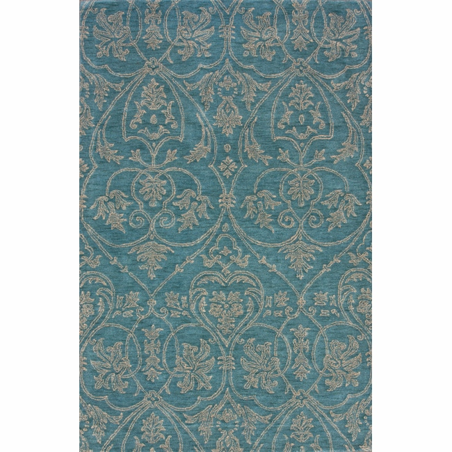 nuLOOM Handmade Parisian Royal Blue Wool Rug (5' x 8')