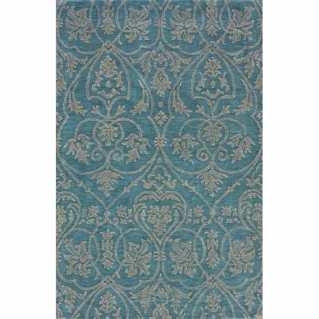 nuLOOM Handmade Parisian Royal Blue Wool Rug (5' x 8')