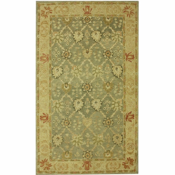 nuLOOM Hand-spun Decorative Persian Natural New Zealand Wool Rug (6' x 9')