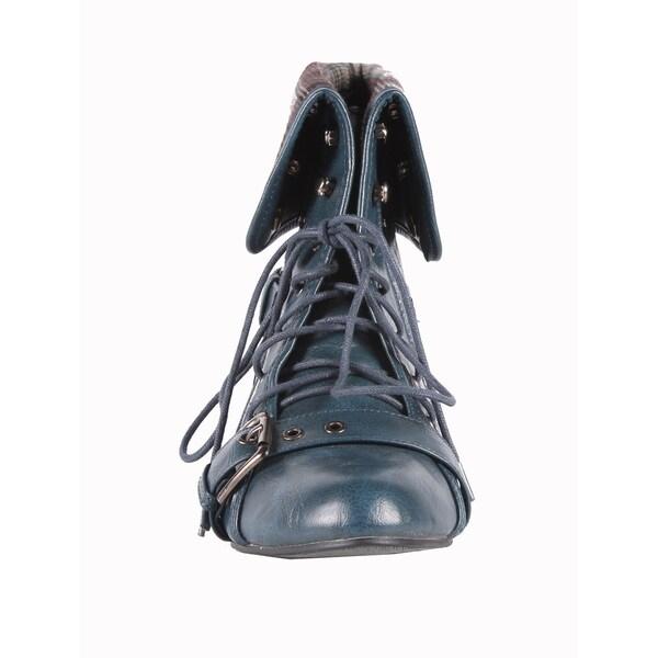 Jacobies by Beston Women's 'Break-1' Blue Ankle Bootie