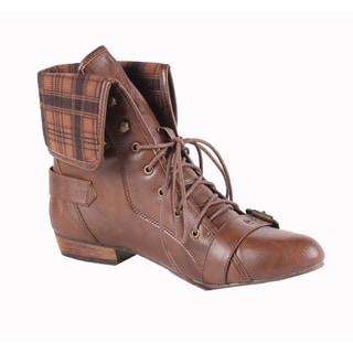 Jacobies by Beston Women's 'Break-1' Brown Ankle Bootie