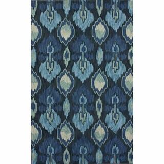 nuLOOM Handmade Modern Ikat Blue Rug (5' x 8')
