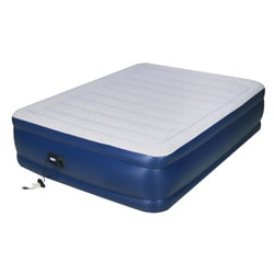 Airtek Raised Flocked Queen-size Air Bed With Built-in Pump
