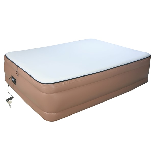 Airtek Raised Memory Foam Queen Size Air Bed With Built In Pump Mattress Ebay