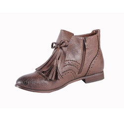 Jacobies by Beston Women's 'Oxy-3' Brown Ankle Bootie