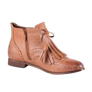 Jacobies by Beston Women's 'Oxy-3' Cognac Ankle Bootie