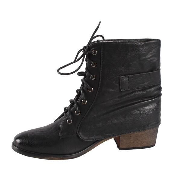 Jacobies by Beston Women's 'Pisa-11' Combat Ankle Boots