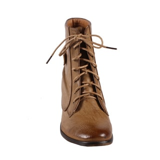 Jacobies by Beston Women's 'Pisa-11' Combat Ankle Boots