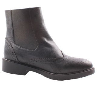 Jacobies by Beston Women's 'WX-2' Black Ankle Boots