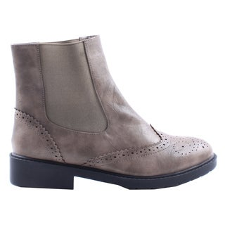 Jacobies by Beston Women's 'WX-2' Khaki Ankle Boots