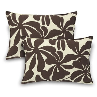 Twirly Polyester Brown Outdoor Decorative Pillows (Set of 2)
