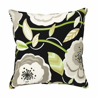Poppy Galore Black 20-inch Pillow