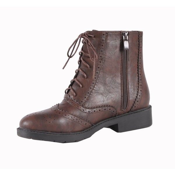 Jacobies by Beston Women's 'WX-1' Combat Ankle Boots
