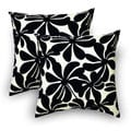 Sentiments-Inc. Twirly Polyester Black Outdoor Decorative Pillows (Set of 2)