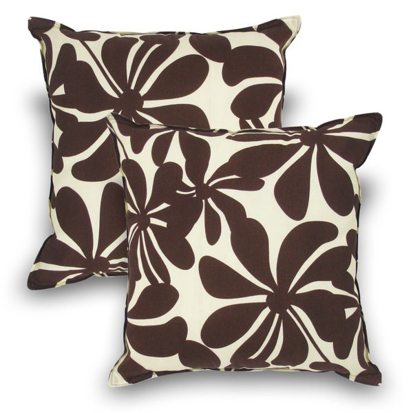 Brown 20-inch Pillow (Set of 2)