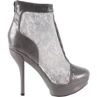 Jacobies by Beston Women's Gray 'Bebe-9' Stiletto Ankle Bootie