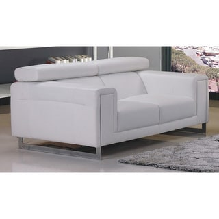 Carter Bonded Leather Loveseat