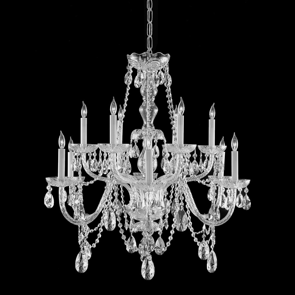 Chrome 12-light Crystal Chandelier