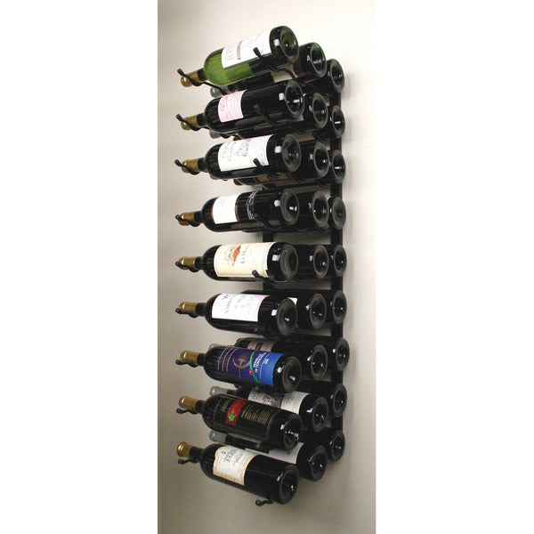 Triple Deep Wall Mounted Metal Wine Rack 14630084