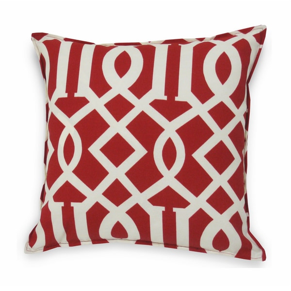 Roman Indoor/ Outdoor Red Decorative Pillow (Set of 2) - Overstock Shopping - Great Deals on ...