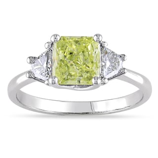 Miadora 14k Gold 1 5/8ct TDW Yellow and White Diamond Ring (G-H, SI1-SI2)