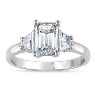 Miadora Signature Collection  Miadora 14k Gold Certified 1 1/2ct TDW Emerald Cut Diamond Ring (F, VS1)