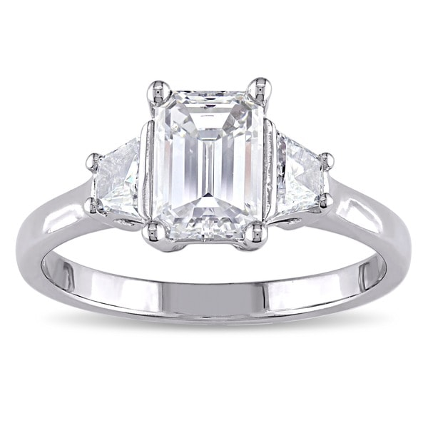 Miadora Signature Collection 14k White Gold 1 1/2ct TDW Certified Diamond Ring (F, VS1, GIA)
