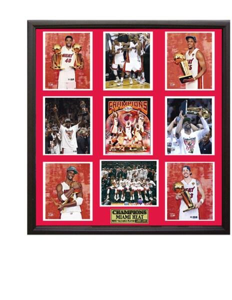 Miami Heat 2012 NBA Champions 30 x 34 Nine-Photo Collage Frame 9616647