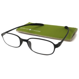 Gabriel+Simone Readers Men's/ Unisex Flexi-petite Black Reading Glasses