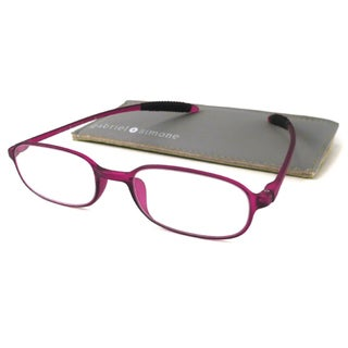 Gabriel + Simone Readers Men's/ Unisex Flexi-petite Purple Reading Glasses