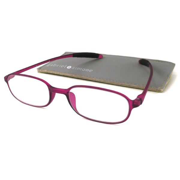 Gabriel + Simone Readers Men's/ Unisex Flexi-petite Purple Reading Glasses