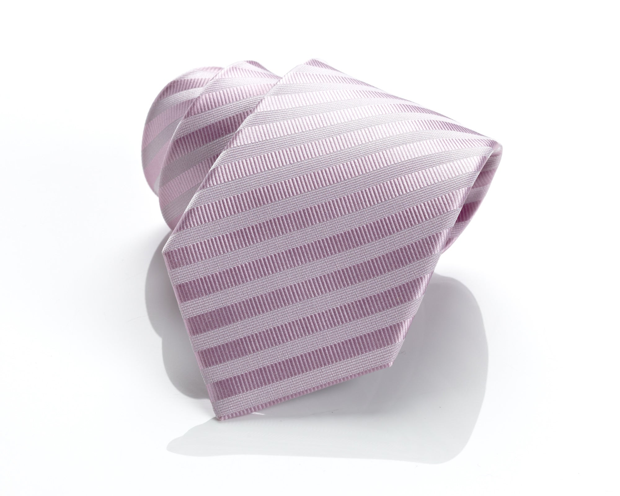 H. Luzzario & Co Pink Stripe Silk Tie