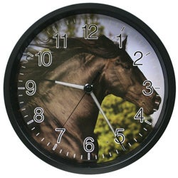 12 Inch Wildlife Horse Clock