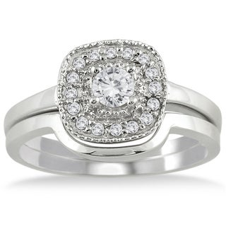 10k White Gold 1/3ct TDW White Diamond Bridal Ring Set (I-J, I1-I2)