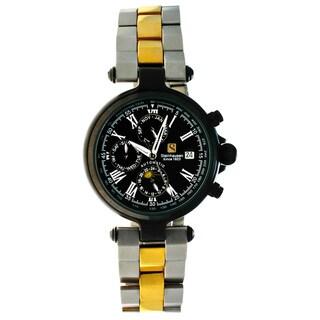 Steinhausen Men's Three Eyes Automatic Black Case Black Dial Watch