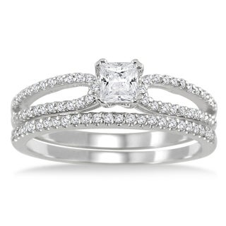 10k White Gold 3/5ct TDW White Diamond Bridal Ring Set (I-J, I1-I2)