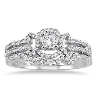 10k White Gold 5/8ct TDW White Diamond Bridal Ring Set (I-J, I1-I2)