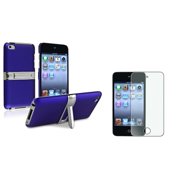 INSTEN Blue iPod Case Cover/ Screen Protector Bundle for Apple iPod Touch Generation 4