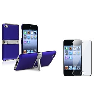 BasAcc Blue Case/Anti-Glare Screen Protector for Apple iPod Touch Generation 4