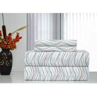 Pointehaven Metro Printed Heavyweight Flannel Sheet Set